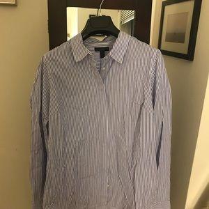 J. Crew stretch perfect shirt in classic stripe
